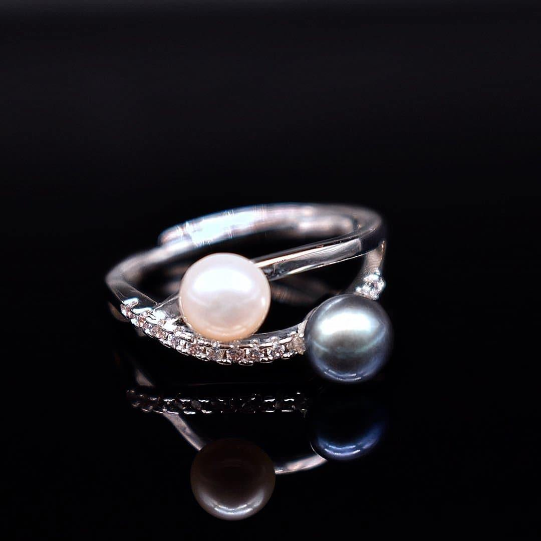 Freshwater Pearl Adjustable Ring - Georgina