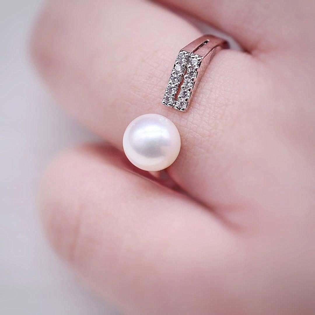 Freshwater Pearl Open Ring - Olympia