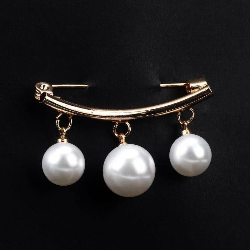 Faux Pearl Fashion Pin - Smile Design | Akuna Pearls | Freshwater Pearl Jewellery | Made in Australia