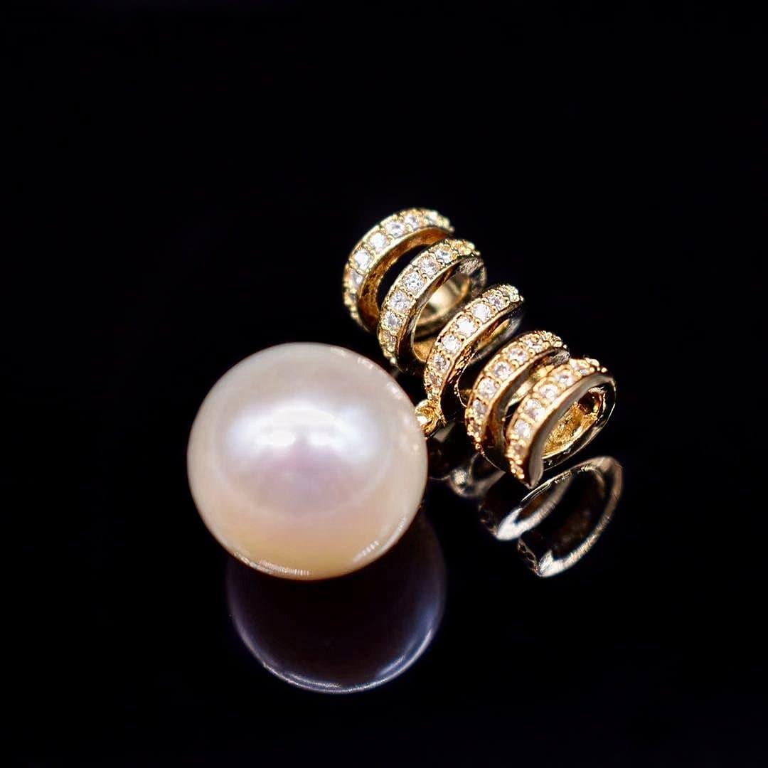 Freshwater Pearl Pendant Necklace - Athena - Akuna Pearls