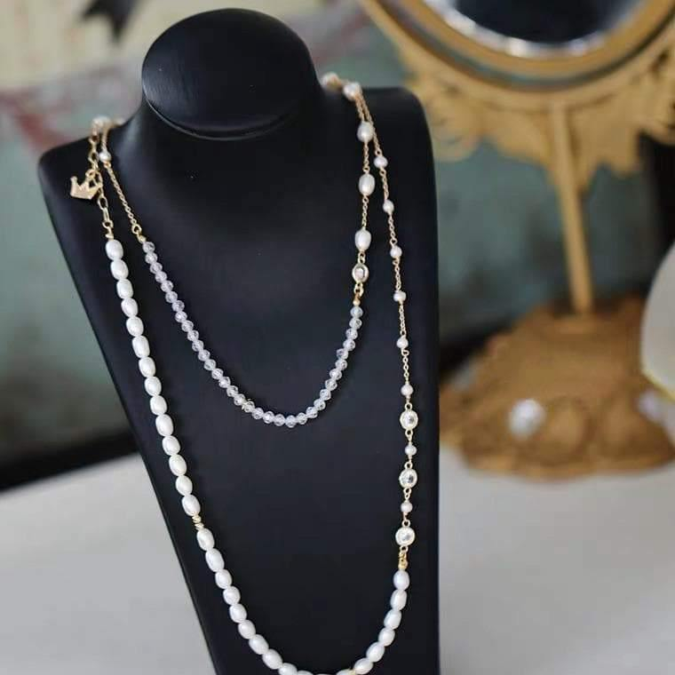 Freshwater Pearl Long Necklace - Henrietta - Akuna Pearls