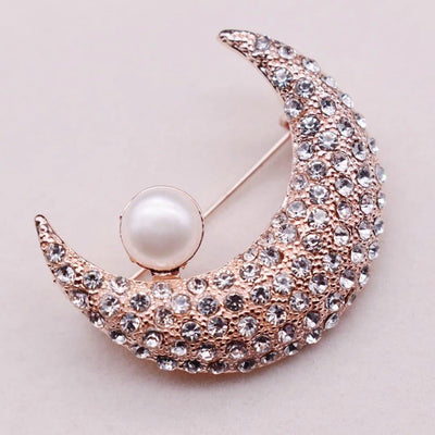 Freshwater Pearl Brooch - The Moon