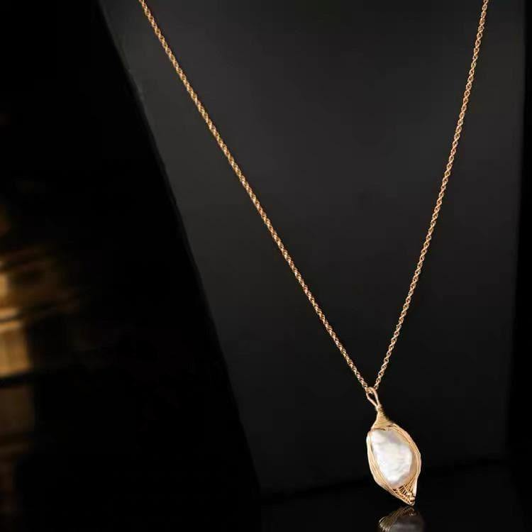 Baroque Pearl Long Necklace - Zandra