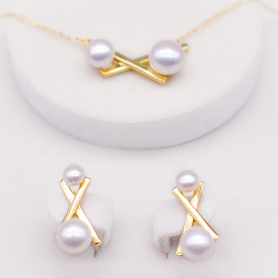 Freshwater Pearl Set - Balance Cross