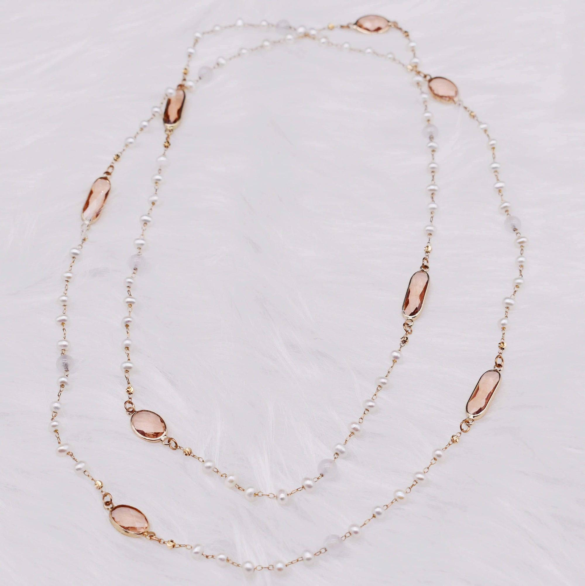 Freshwater Pearl Long Necklace - Roseann | Akuna Pearls | Freshwater Pearl Jewellery | Made in Australia
