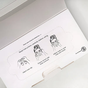 Type IIR Medical Grade Disposable Face Masks with Ear Loop, Non-woven, 3Ply – White (as low as £0.23 per mask)