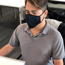 Load image into Gallery viewer, Smart Fiber Fabric Mask – Black (as low as £3.30 per mask)