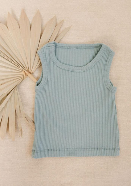 Rib Knit Tee Sky Blue - Tiny Dreamer & Co.