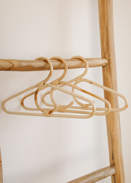 Vintage Baby Rattan Hangers Set of 3 - Tiny Dreamer & Co.