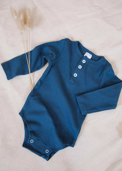 Long Sleeve Onesie Navy - Tiny Dreamer & Co.