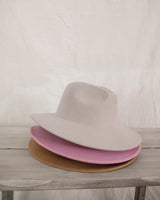 Parker wide brim Hat-Light Grey