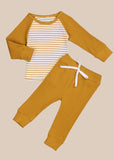 Stripe PJ Set Yellow