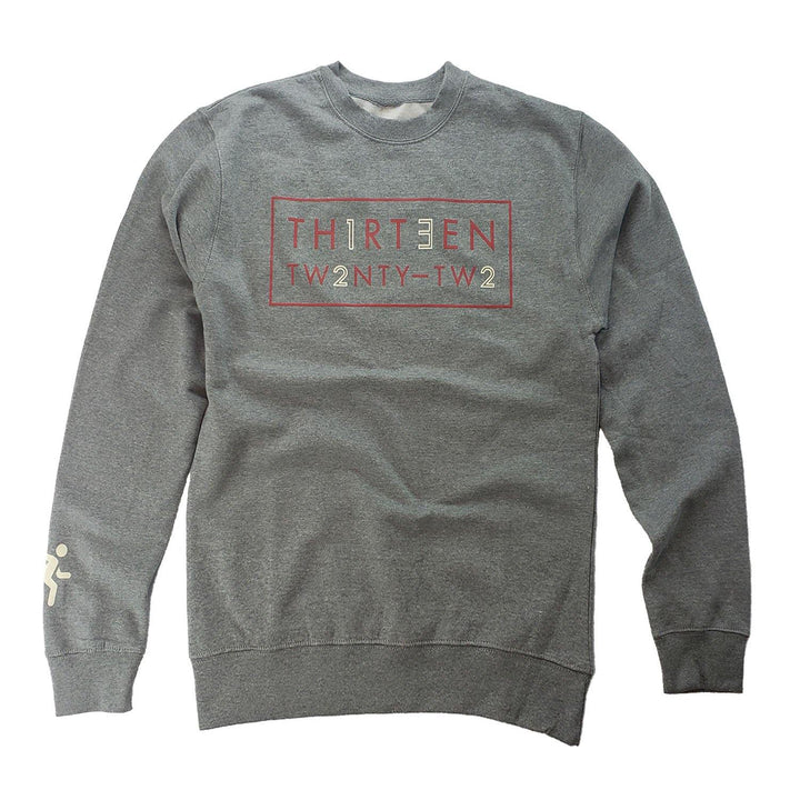 THIRTƎEN-22 Sweatshirt - Smoke Gray - AGH Apparel