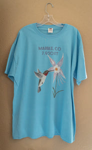 Marble, Colorado Tshirts - Sky Blue
