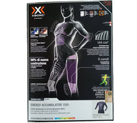 X-bionic - Energy Accumulator EVO -  Shirt Long Sleeves Round Neck  Charcoal/Fuchsia Women - TAILORMED®