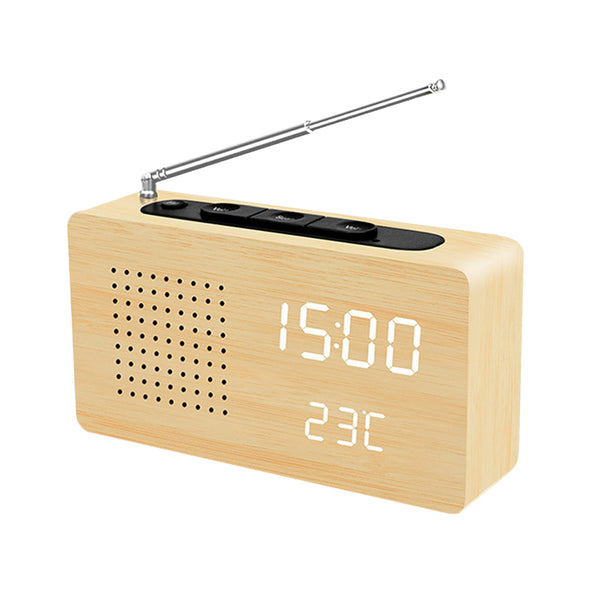 L1299——FM Radio Bamboo LED Electronic Display