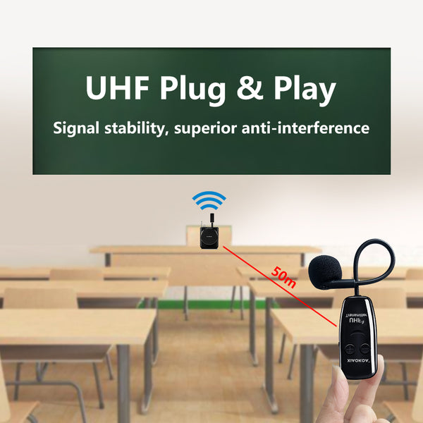 U12F——Dual UHF Headset Wireless Microphone 1 Receiver 2 Headset