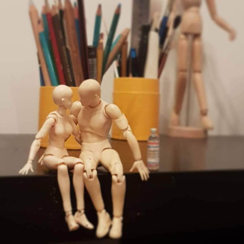 Body kun + Body chan - 2in1 pack - Light Complexion Drawing Figurines