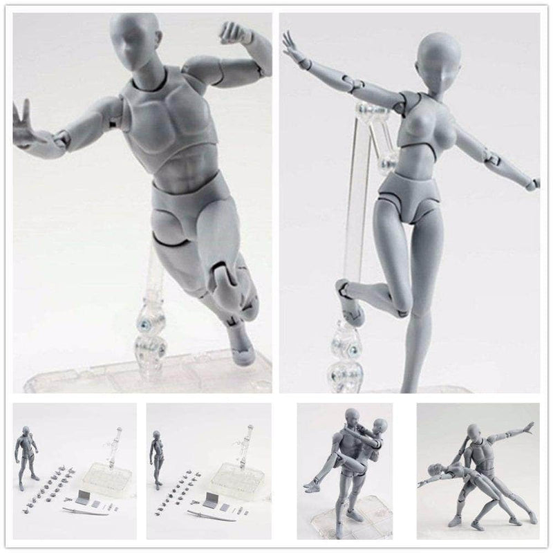 Body kun Drawing Figures Models for Artists Male + Female - DX SET Grey (2in1 Deal)