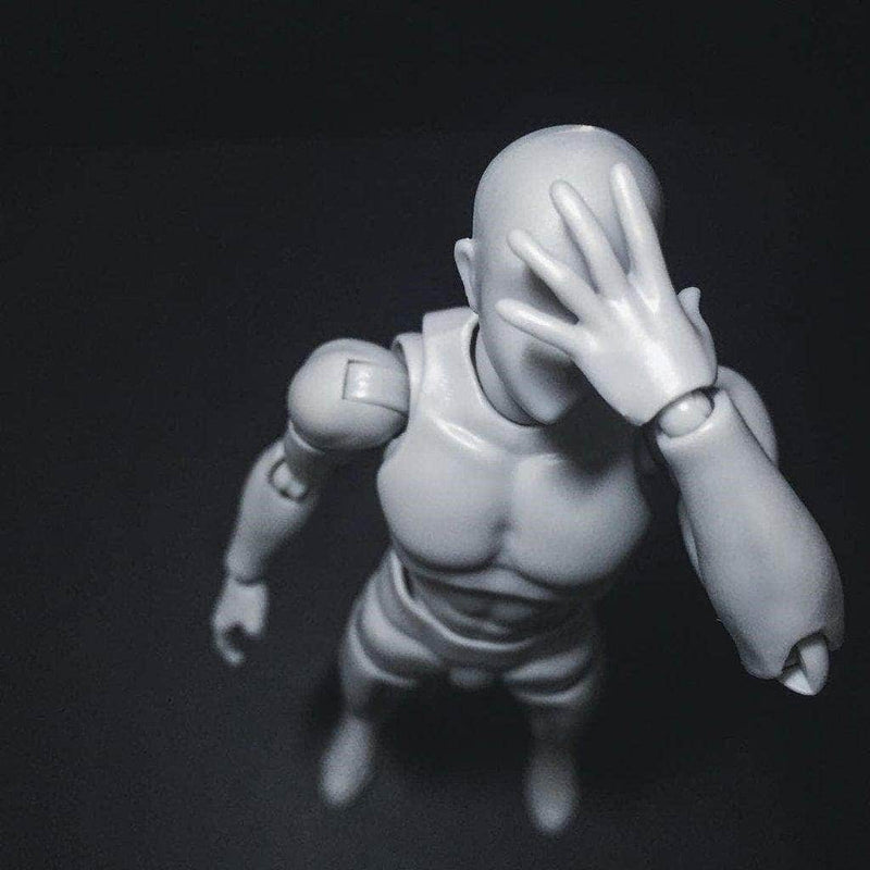Body Kun Model Drawing Figure - Grey