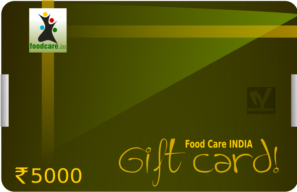 Gift Card  Rs.5000 - Food Care INDIA