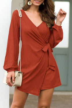 Motachic V Neck Loose Irregular Autumn Romper(2 Colors)