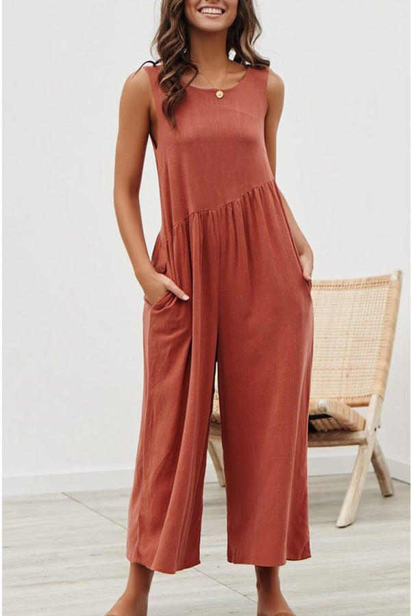 Lopolly Casual Vest Jumpsuit(4 Colors)