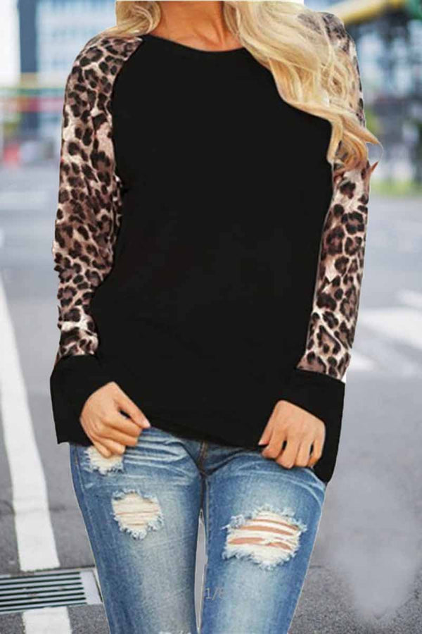 Lopolly Leopard Print Long sleeve Top(Extra Offer)