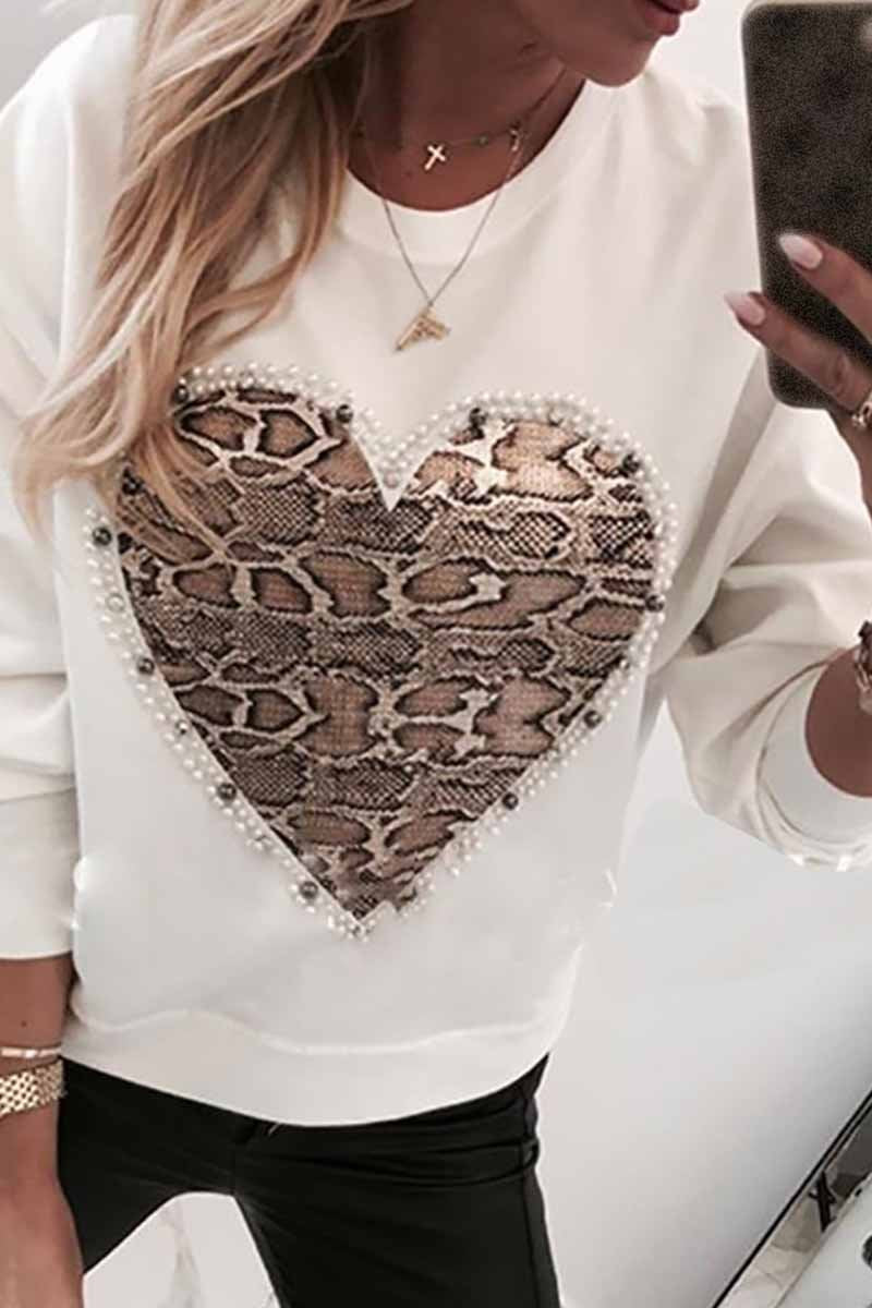 Lopolly Casual Snake Print Sweatshirt