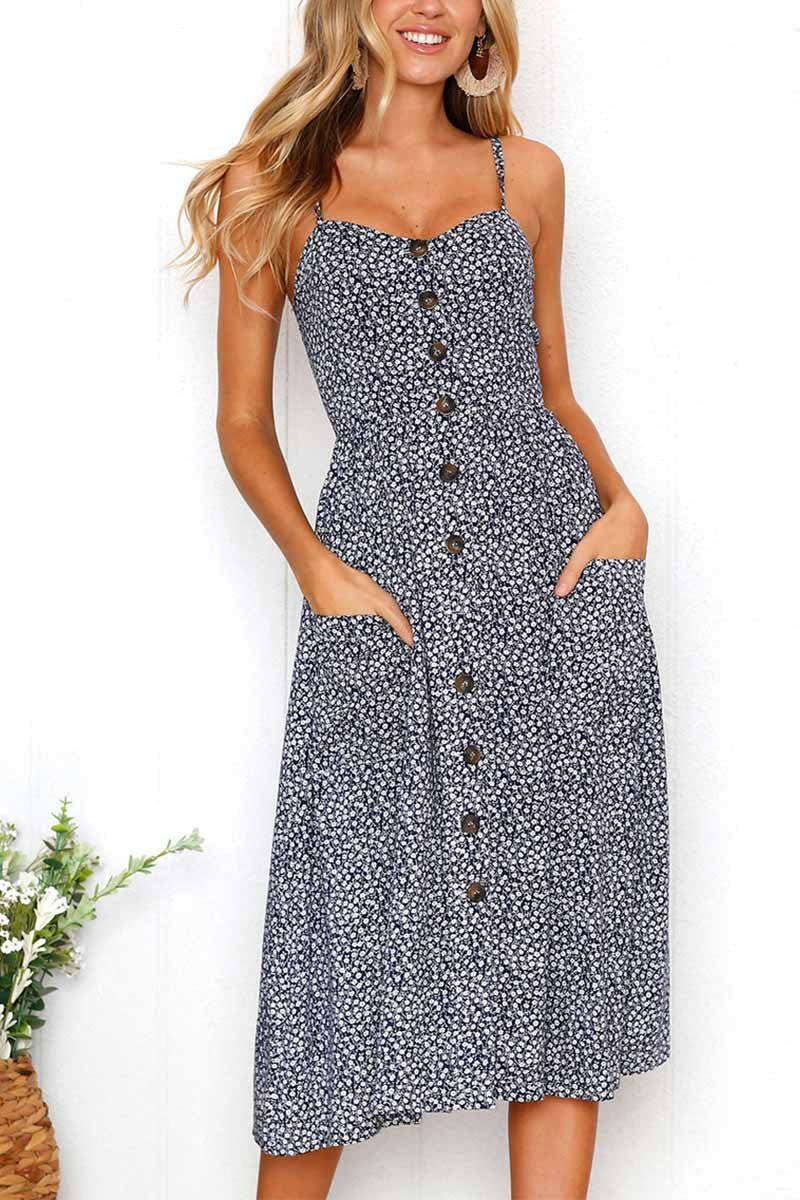 Lopolly Floral Print Camisole Dress
