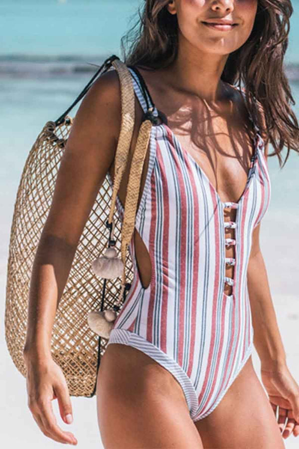 Lopolly Printed one-piece Swimsuit(2 colors)