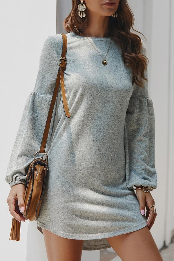 Lopolly Autumn Knit Sweater Dress Shirt