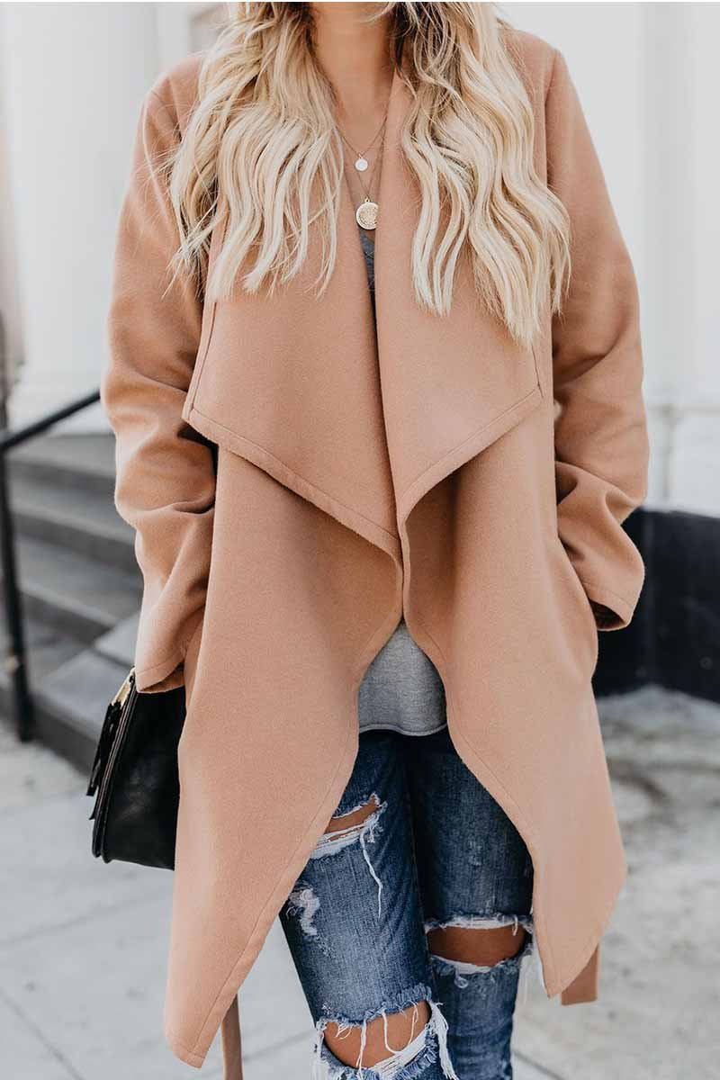 Lopolly Wild Solid Color Trench Coat