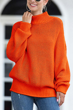 Lopolly Breathable Bat Sleeve Knit Sweater