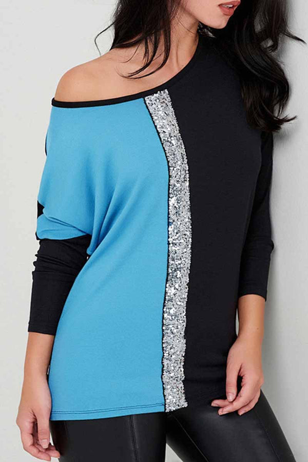 Lopolly Casual Sequins Tops