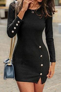 Lopolly Sexy Button Dress