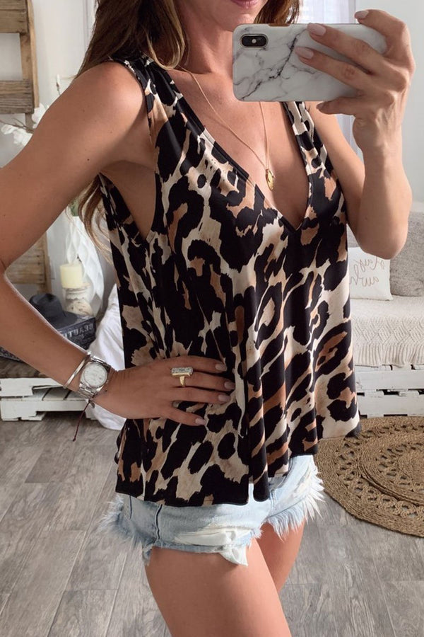 Lopolly Leopard Printed Tank Top