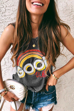 Lopolly Letter Printed T-shirt
