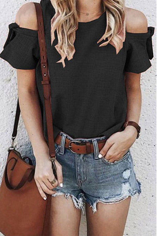 Lopolly O Neck Off The Shoulder Blouse