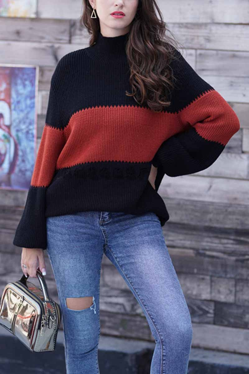 Lopolly Loose Stripe Knitted Sweater