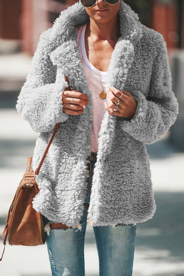 Lopolly Winter Plush Coat Cardigan