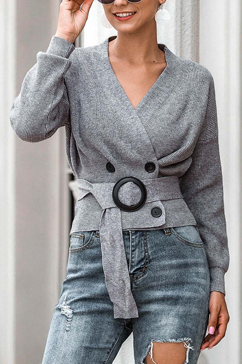 Lopolly Knit Cardigan Short Sweater
