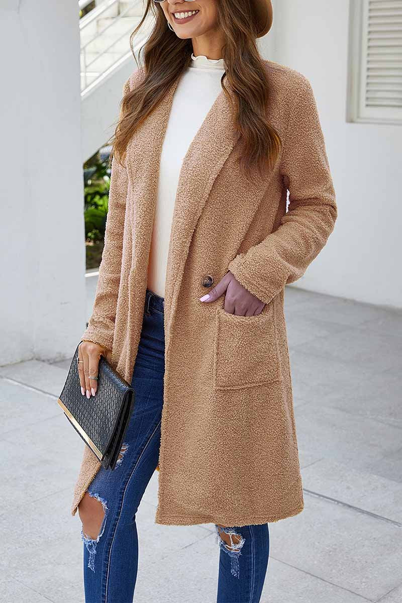 Lopolly Loose Solid Women's Coat