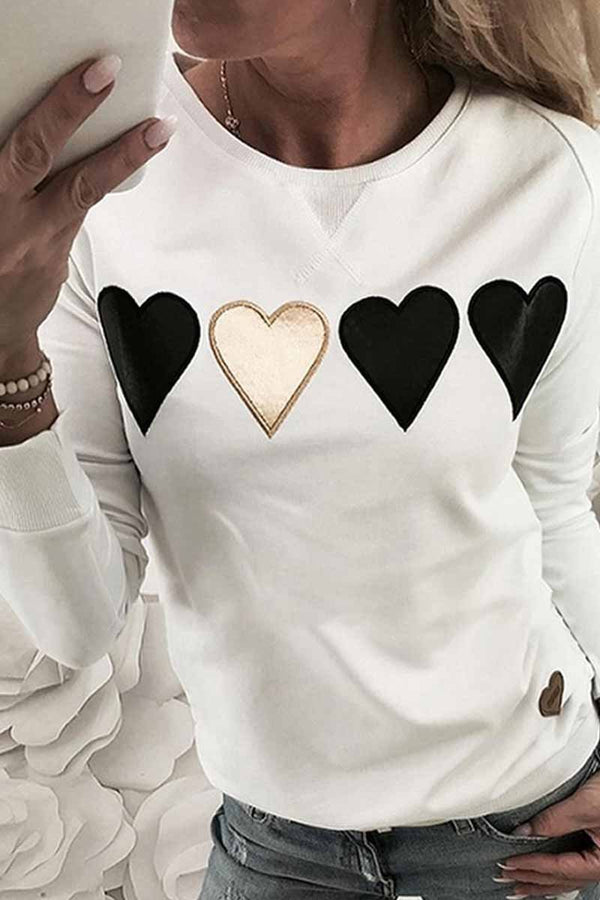 Lopolly New Heart Print Sweatshirt