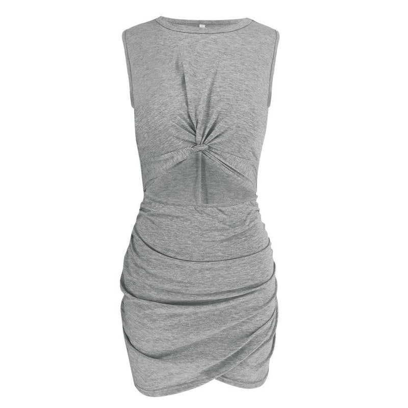 Lopolly Casual Hollow-out Sleeveless Hot Mini Dress(2 Colors)