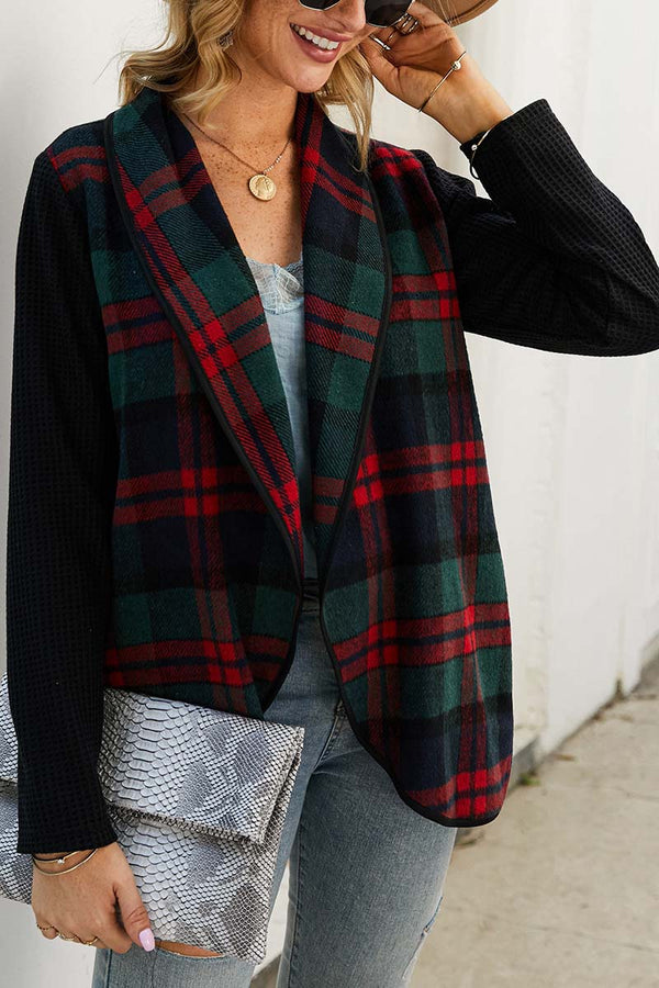 Lopolly OL Winter Street Style Plaid Coat