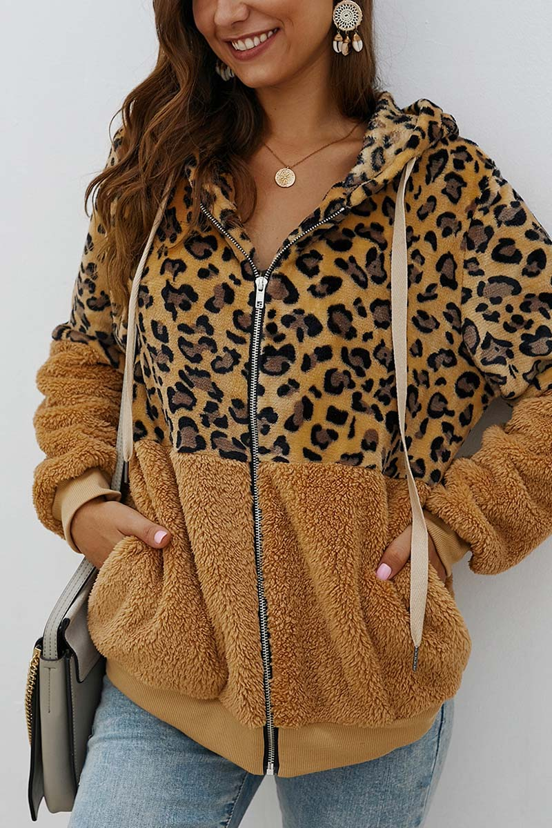 Lopolly Leopard Stitching Coat