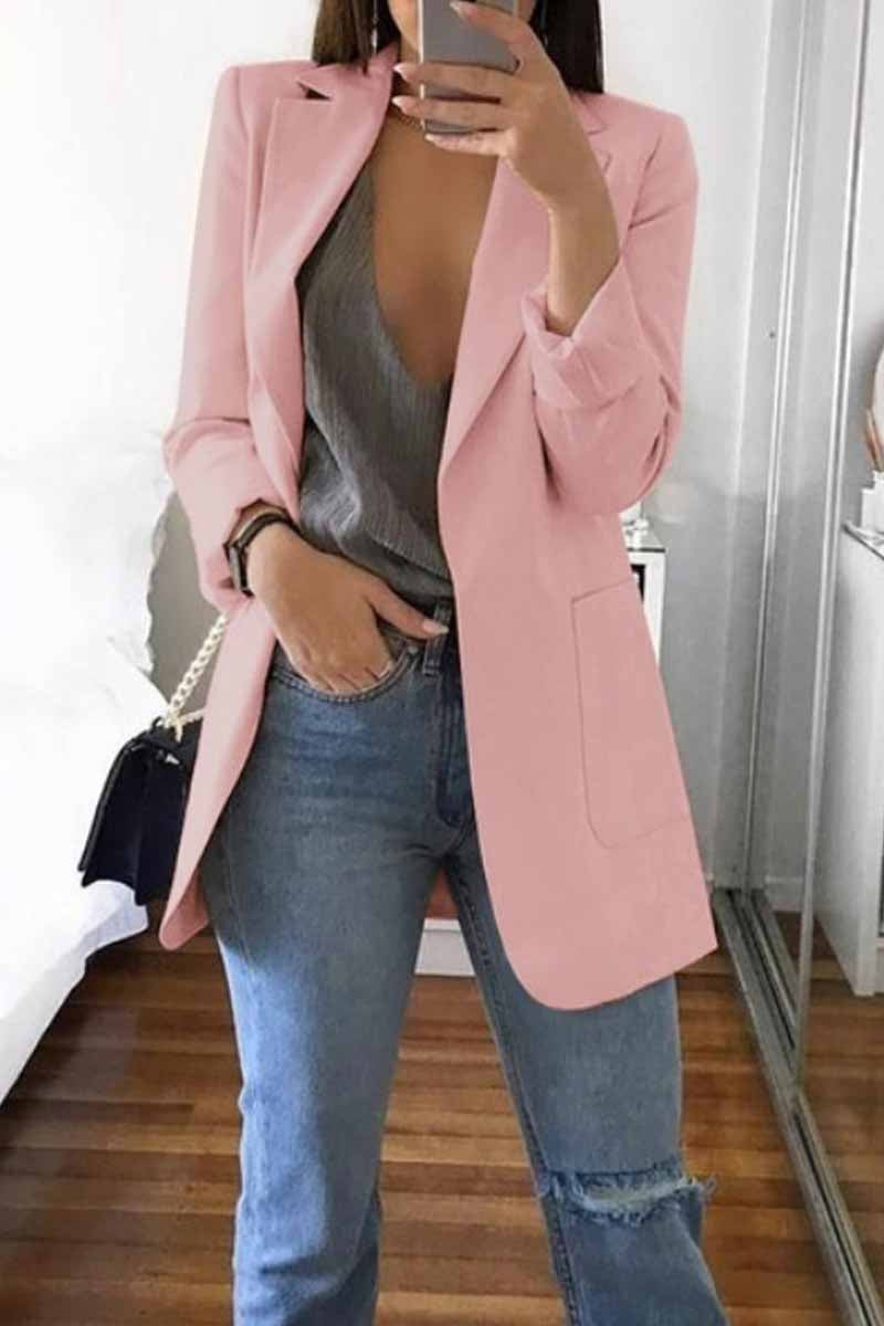Lopolly Stylish Suit with Pocket Blazer(4 Colors)