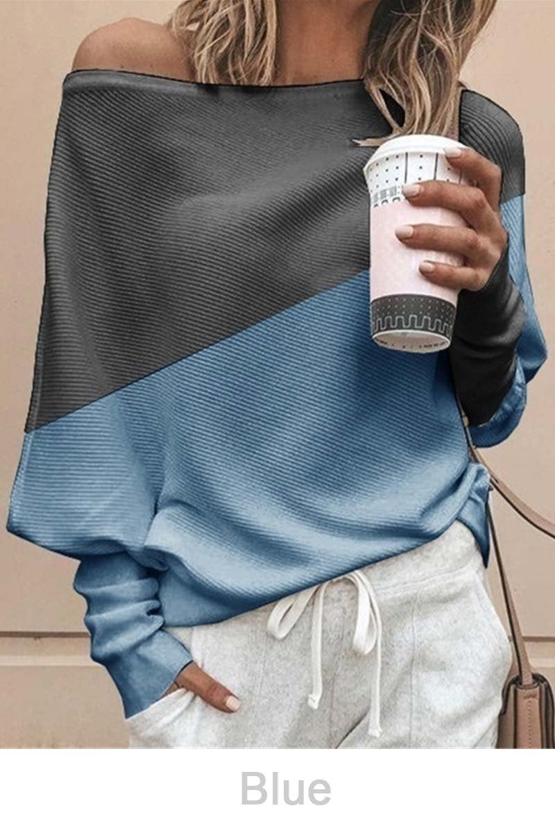 Lopolly Comfy Off Shoulder Sweatshirt(5 Colors)