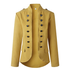 Lopolly Casual Buttons Design Long Sleeve Coat(3 Colors Extra Offer)